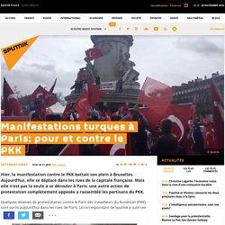 Manifestations turques à Paris: pour et contre le PKK