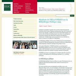 Manifeste de l'IFLA/UNESCO sur la Bibliothèque Publique 1994