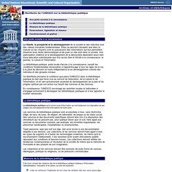 Manifeste de l'UNESCO sur la bibliothèque publique