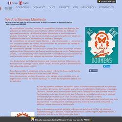 Manifeste des Biomers et du Biome