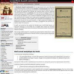 Le manifeste du parti communiste — Wikirouge