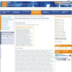 Manifeste ABCD pour la culture de l'information