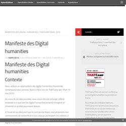 Manifeste des Digital humanities
