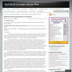Manifeste d'économistes atterrés, 01/09/2010