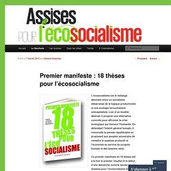 Premier manifeste : 18 thèses pour l'écosocialisme