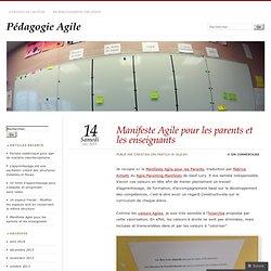 Manifeste Agile pour les parents et les enseignants