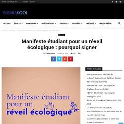 Manifeste étudiant pour un réveil écologique : pourquoi signer