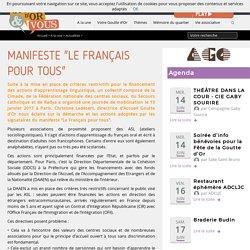 """Manifeste """"Le Français pour tous"""""""