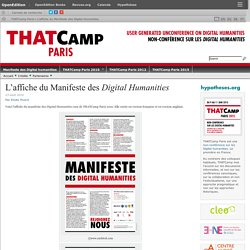 L'affiche du Manifeste des Digital Humanities