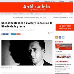 Un manifeste inédit d'Albert Camus sur la liberté de la presse