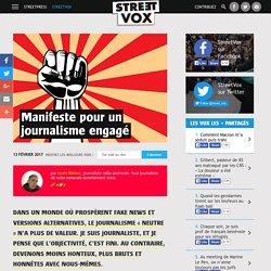 Manifeste pour un journalisme engagé