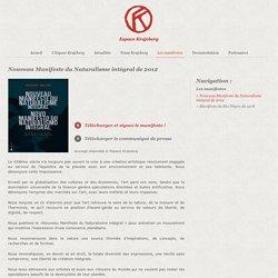 Nouveau Manifeste du Naturalisme intégral de 2012