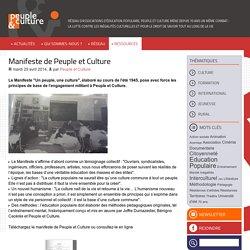 Manifeste de Peuple et Culture - Peuple & Culture