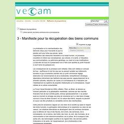 3 - Manifeste pour la récupération des biens communs