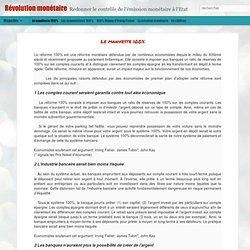 Réforme Urgente du système monétaire