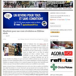 Manifeste pour une (vraie) #frenchrevolution