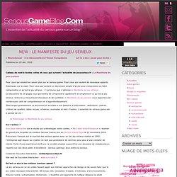 NEW : Le Manifeste du jeu sérieux