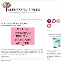 Le Manifeste du Neuro-Droitier