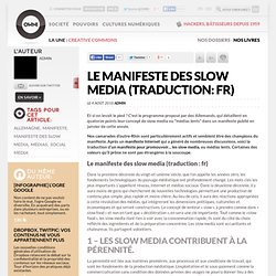 Le manifeste des slow media (traduction: fr)