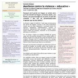 Manifeste contre la violence « éducative »