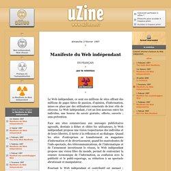 Manifeste du Web indépendant
