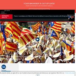 Plus de 800 000 Catalans manifestent pour l'indépendance