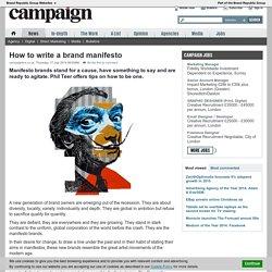 How to write a brand manifesto