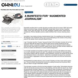 "A manifesto for ""augmented journalism"""