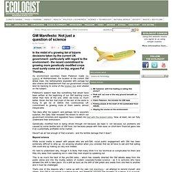 GMO Manifesto - Comment