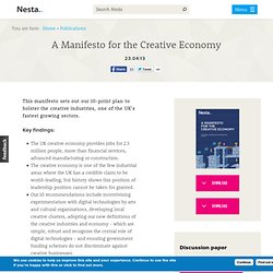 A Manifesto for the Creative Economy