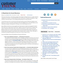 A Manifesto for Social Business