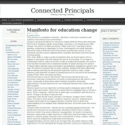 Manifesto for education change