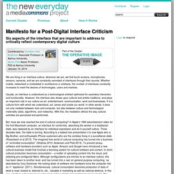 Manifesto for a Post-Digital Interface Criticism