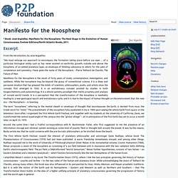 Manifesto for the Noosphere