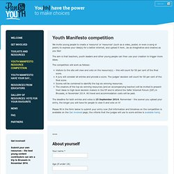 Youth Manifesto: resource competition