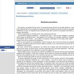 Petizione Manifestu pumuntincu