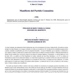 Marx & Engels (1848): Manifiesto del Partido Comunista