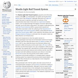 Manila Light Rail Transit System