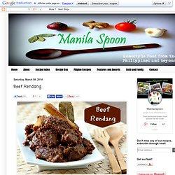 Manila Spoon: Beef Rendang