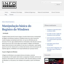 Manipulação básica do Registro do Windows