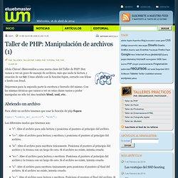 Taller de PHP: Manipulación de archivos (1)