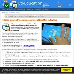 EtiGliss : Apprendre en manipulant des étiquettes virtuelles