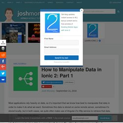 joshmorony - Build Mobile Apps with HTML5