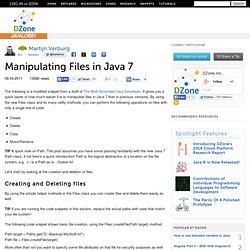 Manipulating Files in Java 7