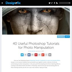 40 Useful Photoshop Tutorials for Photo Manipulation