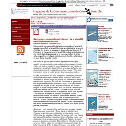 Mensonges, manipulation et Internet : de la stupidité de l'infiltration des forums