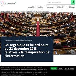 Loi manipulation de l'information, loi fake news