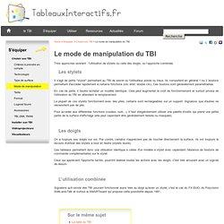 Modes de manipulation du TBI : au stylet ou au doigt, que choisir ?