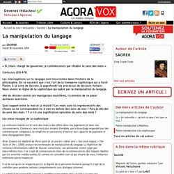 La manipulation du langage