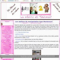 Les ateliers de manipulation type Montessori -